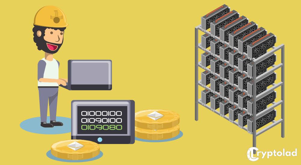 crypto mining graphic