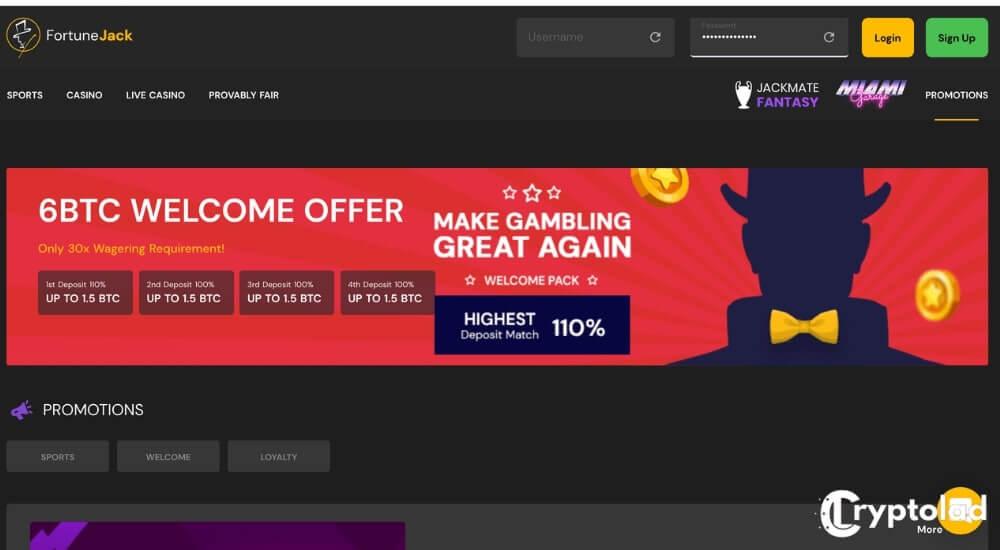 fortunejack bonuses