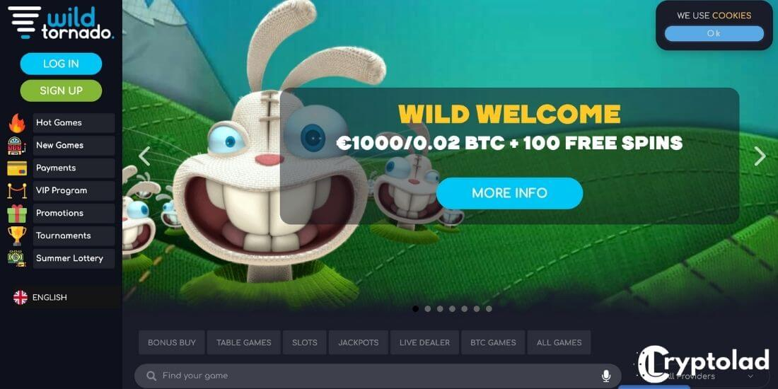 Wild tornado crypto casino