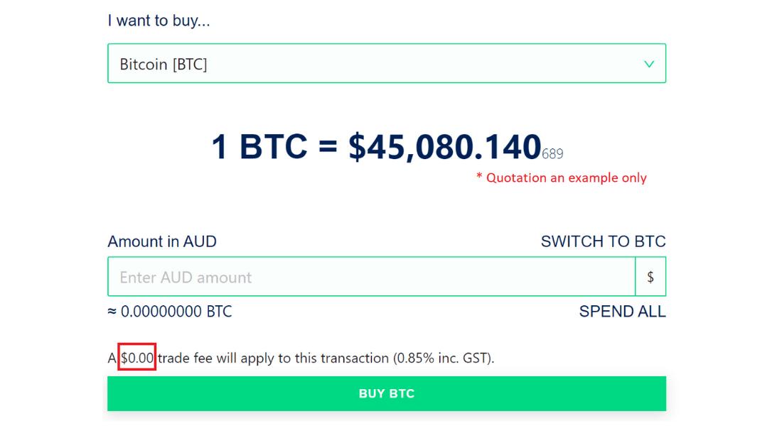 coinstash trading fees