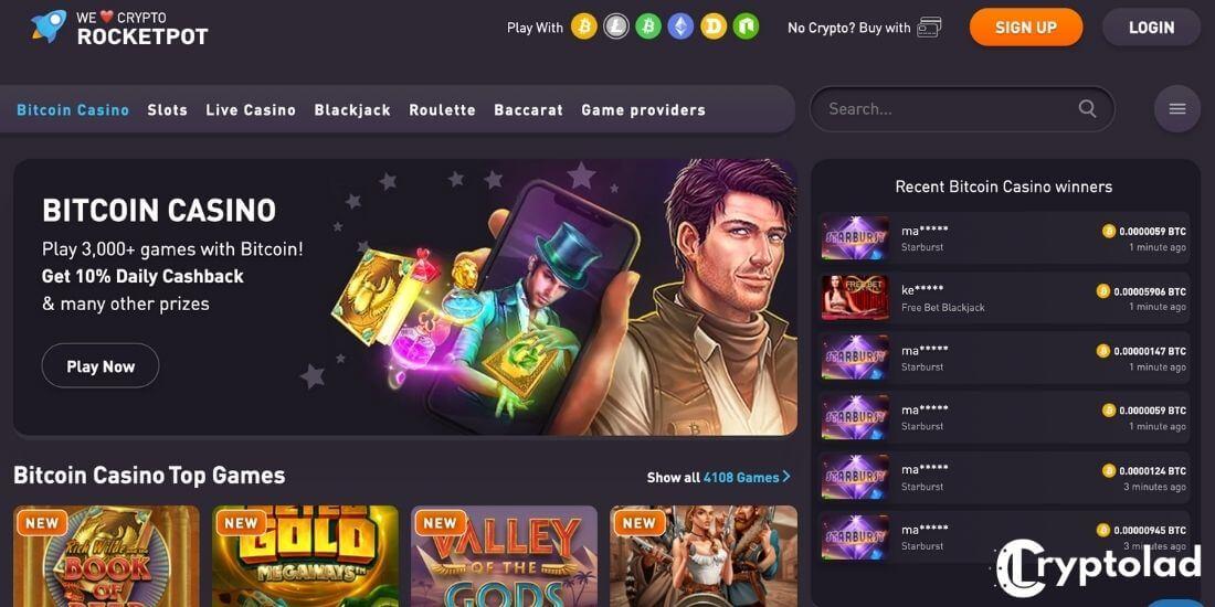 rocketpot casino games